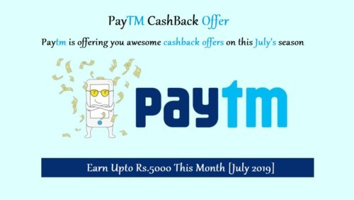 Paytm Cashback offer 2019