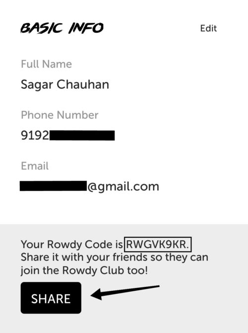 Rowdy Refer and Earn