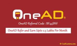 onead App referral code