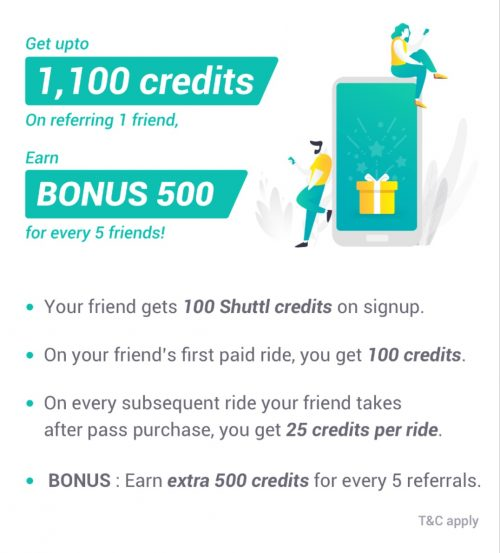 Shuttl Referral Code 2019