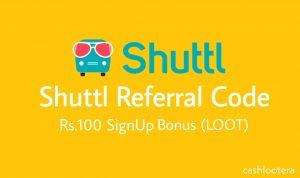 Shuttl Referral Code 2019