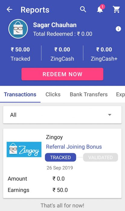 Zingoy Refer and Earn