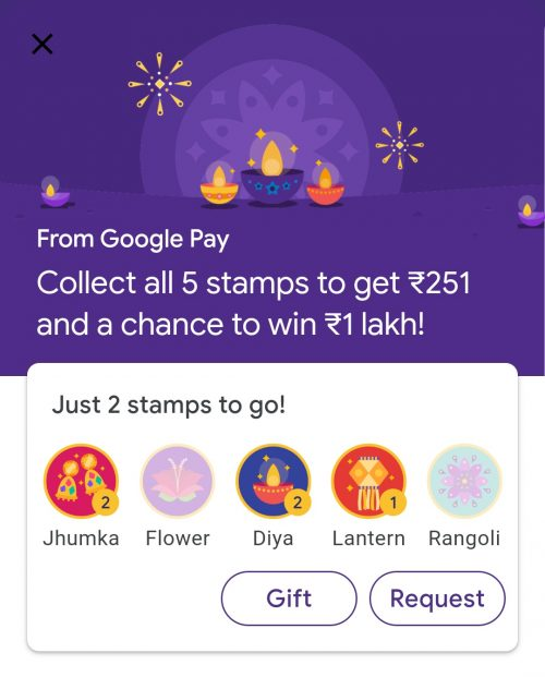 Google Pay Diwali Offer