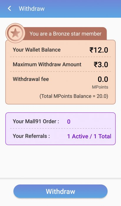 Money91 withdrawal