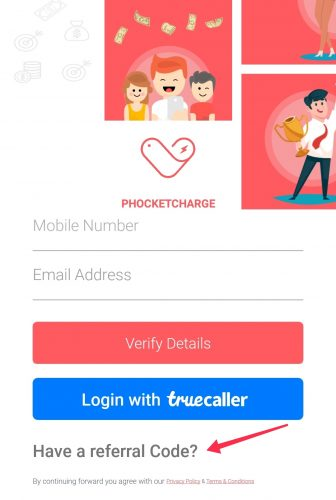 PhocketCharge Referral Code