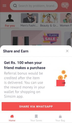 SimSim Refer and Earn