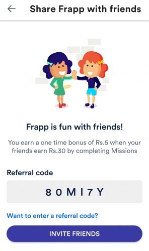 Frapp App Refer and Earn