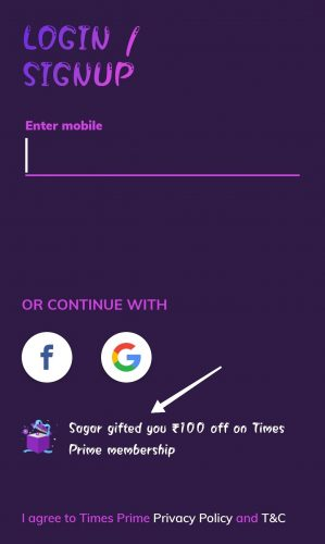 Times Prime Referral Code