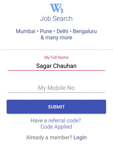 WorkIndia App Offer