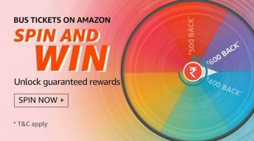 Amazon Bus Tickets Spin and Win Quiz