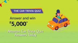 Amazon Car Trivia Quiz Answers