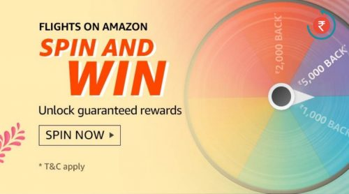 Amazon Flights Spin and Win Quiz