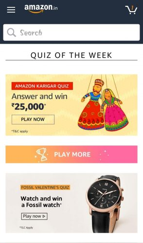 Amazon Fossil Valentine's Day Quiz Answers