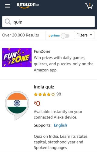 Amazon Love Aaj Kal Quiz Answers
