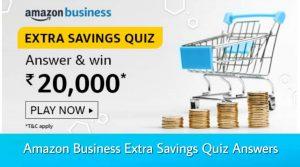 Amazon Extra Savings Quiz Answers