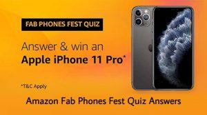 Amazon Fab Phones Fest Quiz