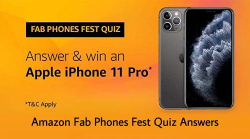 Amazon Fab Phones Fest Quiz