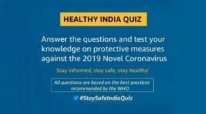 Amazon Healthy India Quiz Answers
