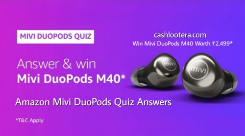 Amazon Mivi DuoPods Quiz Answers
