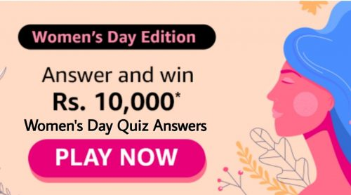 Amazon Women's Day Quiz Answers