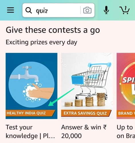 Amazon Healthy India Quiz Answers