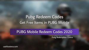 PUBG Redeem Codes