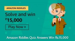 Amazon Riddles Quiz Answers