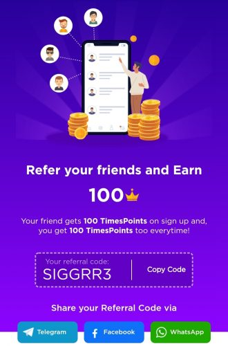 Times Points Refer and Earn