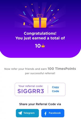 Times Points Referral Code