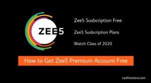 Zee5 Susbcription