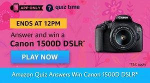 Amazon Canon 1500D DSLR Quiz