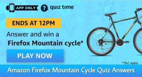 Amazon Firefox Mountain Cycle Quiz Answers