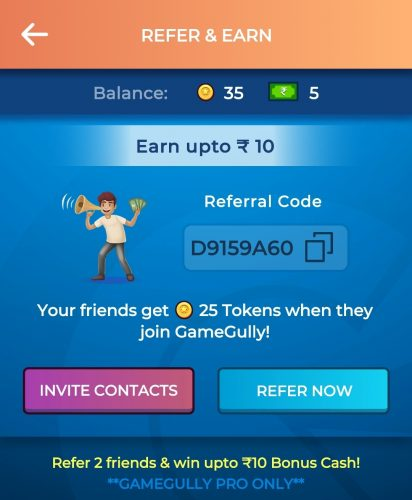 GameGully Refer and Earn