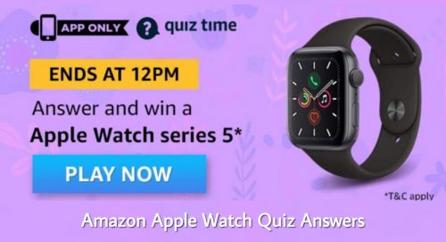 Amazon Apple Watch Quiz Answer