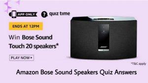 Amazon Bose Sound Speakers Quiz