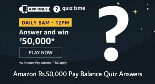 Amazon Pay Balance Quiz Answers