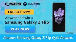 Amazon Samsung Galaxy Z Flip Quiz