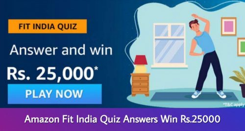 Amazon Fit India Quiz Answers
