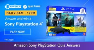 Amason Sony PlayStation Quiz
