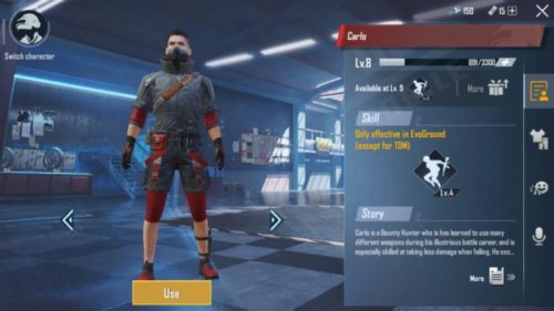 PUBG Mobile Carlo Character