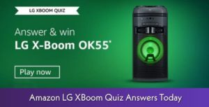 Amazon LG XBoom Quiz Answers
