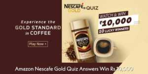 Amazon Nescafe Gold Quiz Answers