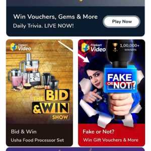 Flipkart Fake or Not Fake Quiz