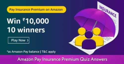 Amazon Pay Insurance premium Quiz