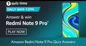 Amazon Redmi Note 9 Pro Quiz Answers
