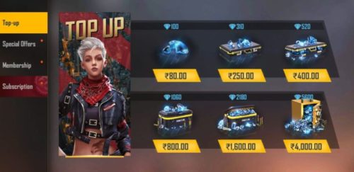 Buy Free Fire Diamonds at Cheap Price