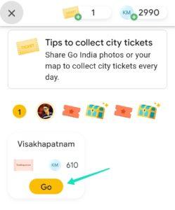 Google Pay Go India Kilometre