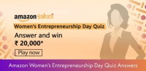 Amazon Womens Entrepreneurship Day Quiz Answers