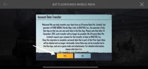 PUBG Account Data Transfer to Battlegrounds Mobile india