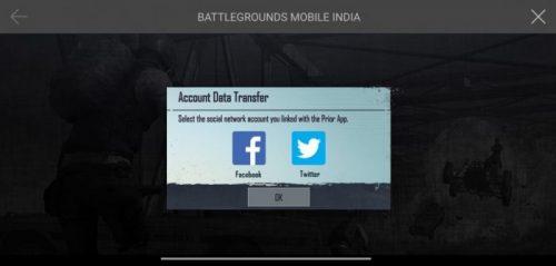 BGMI Account Data transfer
